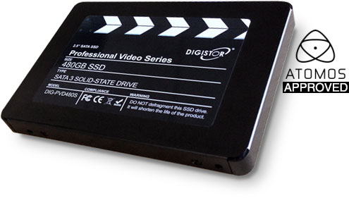 Atomos approves DIGISTOR SSDs for video recording use
